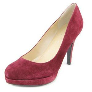 Marc Fisher Sydney Maroon Suede Pumps